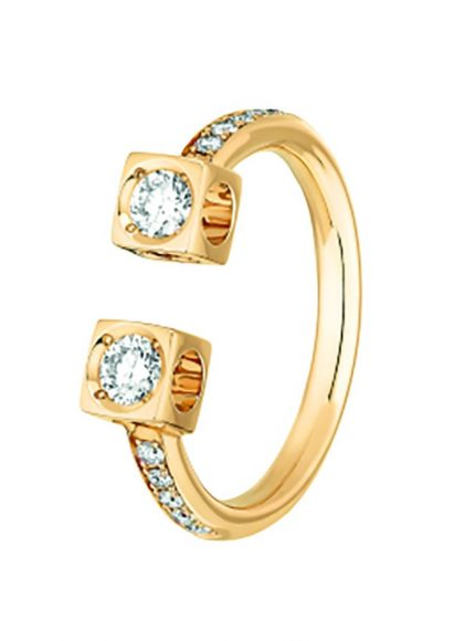 Dinh Van Bague Le Cube Diamant  En or jaune et diamants
