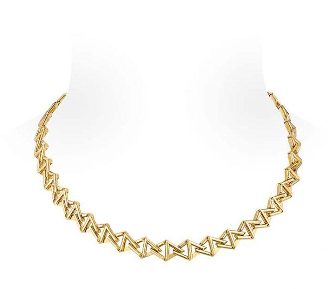Louis Vuitton Collier LV Volt Curb Chain En or jaune.