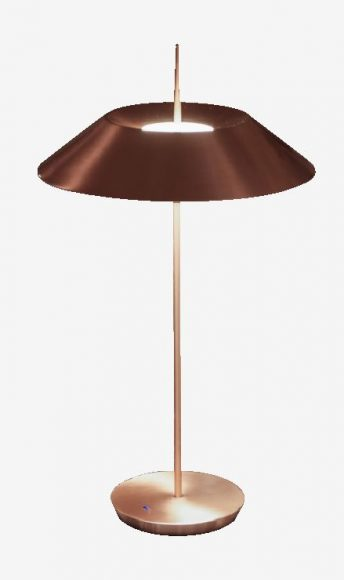 "Lampe de chevet ""Mayfair"" de Vibia Finition cuivre, éclairage LED. PPC : 590 €"