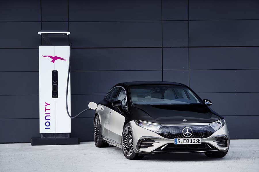Mercedes EQS Première berline de luxe 100% électrique