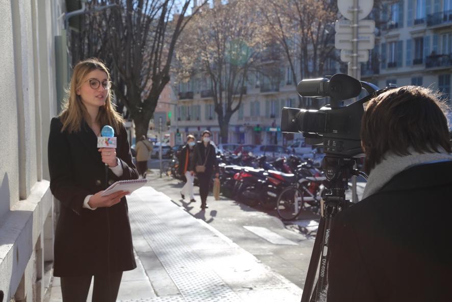 école de journalisme de nice interview étudiant trottoir