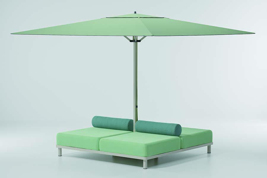 Canapé pied de parasol Meteo Kettal