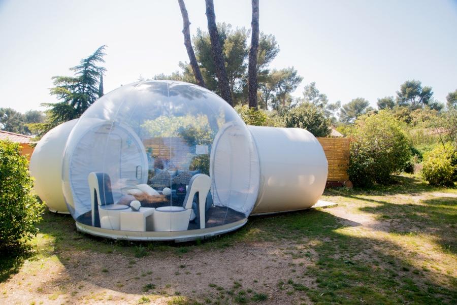 Escapade les bulles sont mises à l'honneur luxe